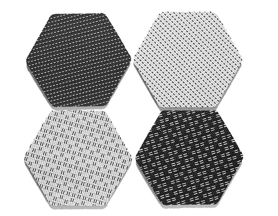 Chilewich Felt-backed Hex Coaster (Set of 4)