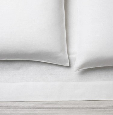 Area Bedding Claire White Flat Sheet