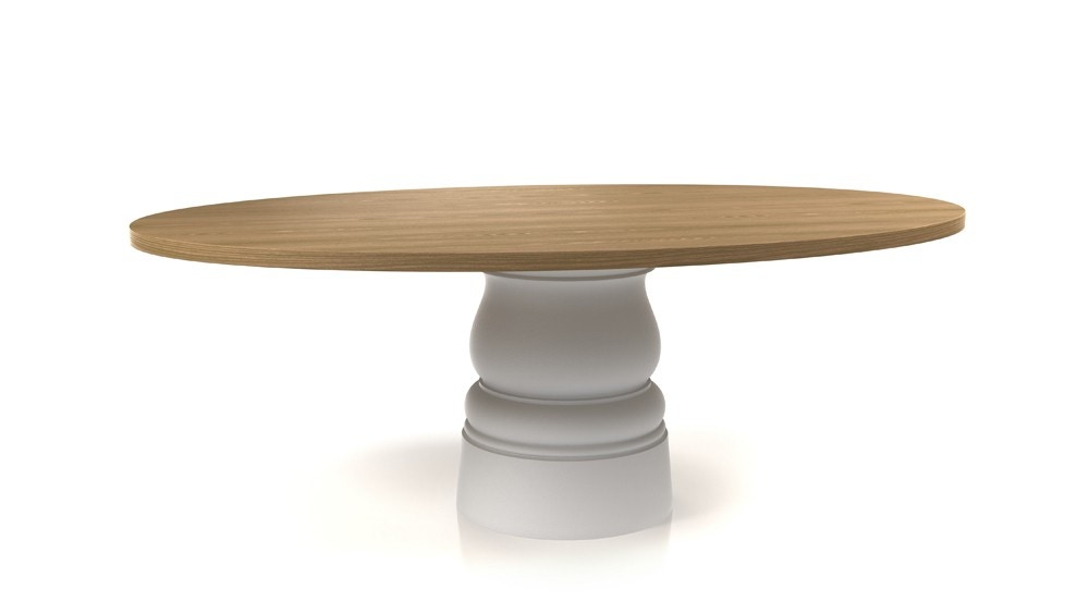 Container Tafel Moooi : Moooi container table with oval 210 x 135 top