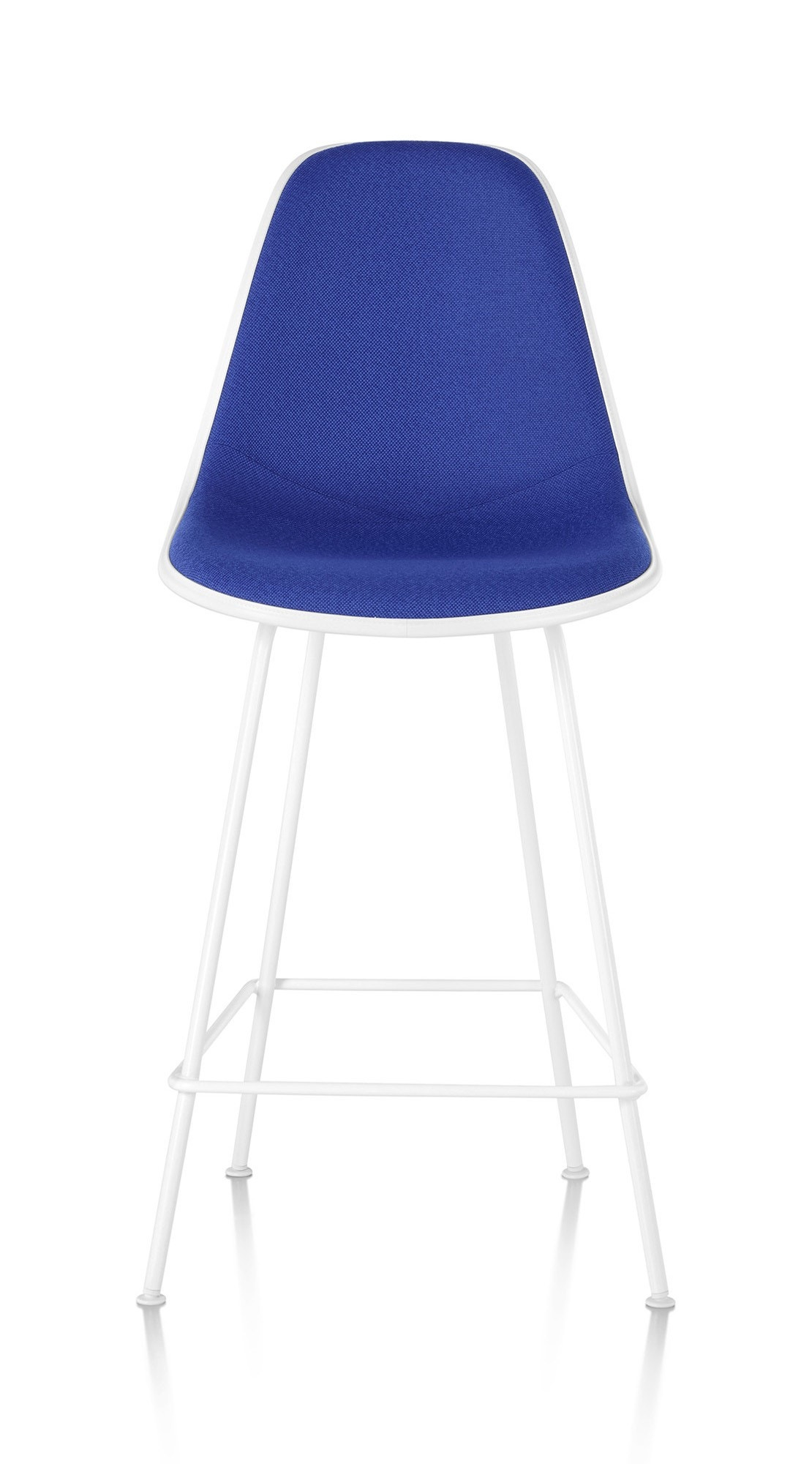 Herman Miller Eames® Molded Plastic Stool Upholstered Shell