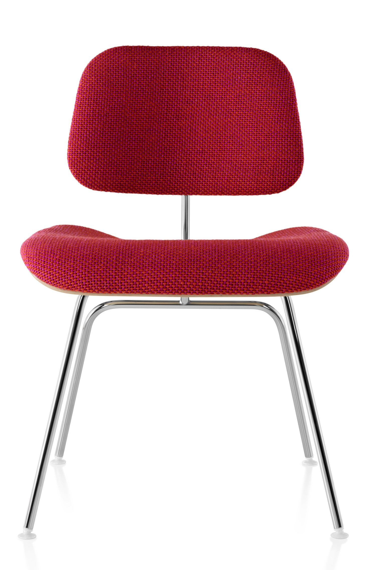 herman miller eames molded plywood upholstered dining chair metal