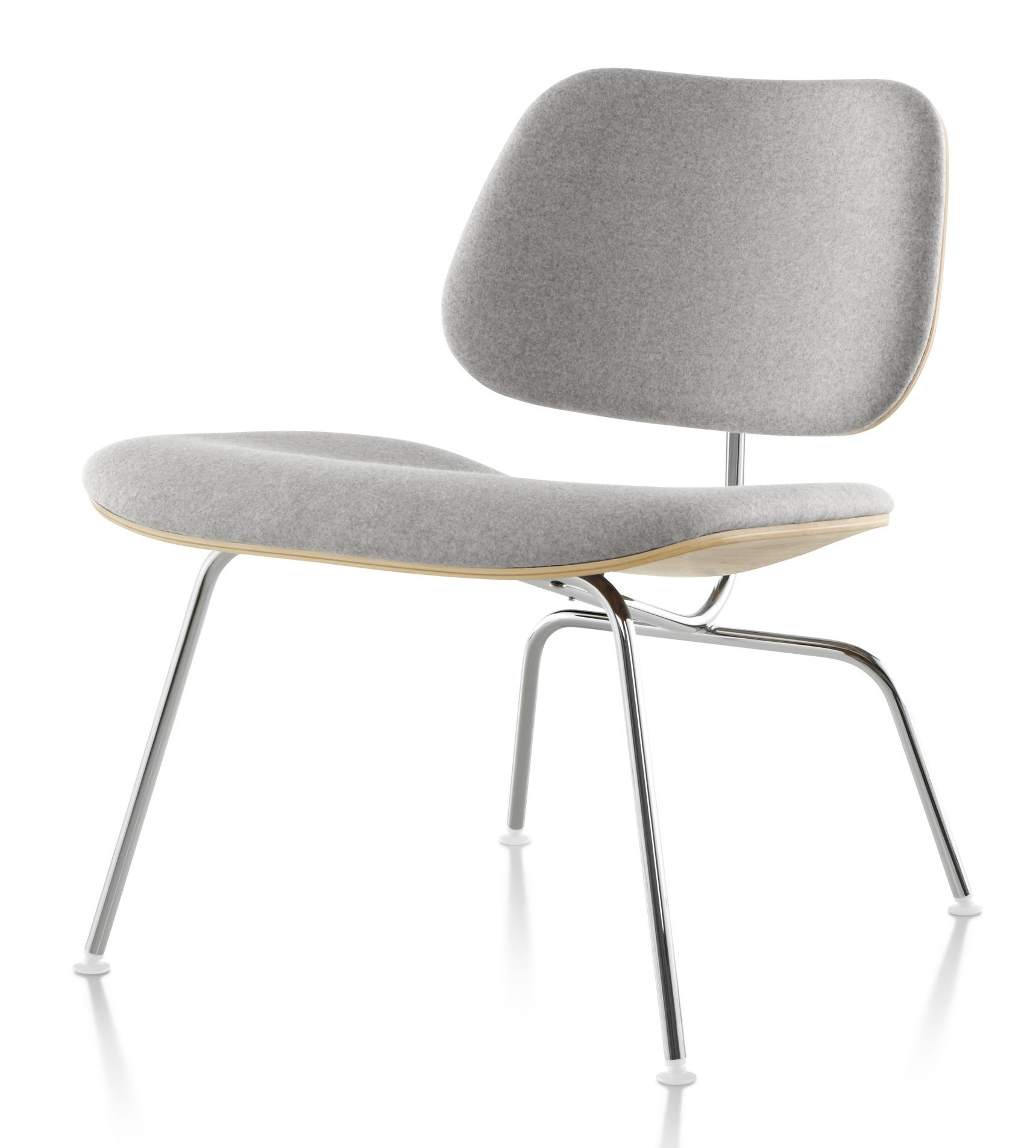 Herman Miller Eames® Molded Plywood Upholstered Lounge Chair - Metal Legs