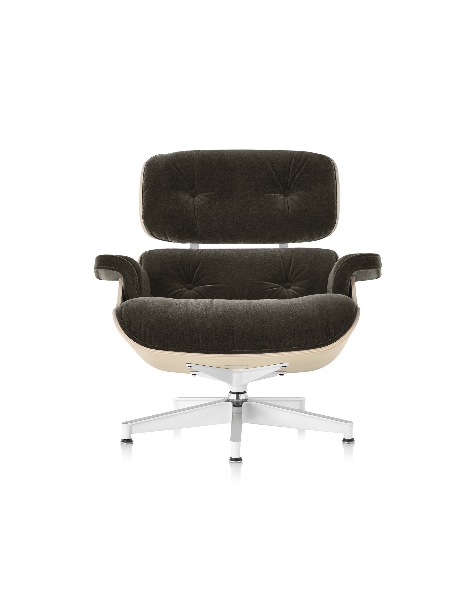 Herman Miller Eames® Lounge Chair White Ash In Mohair Supreme
