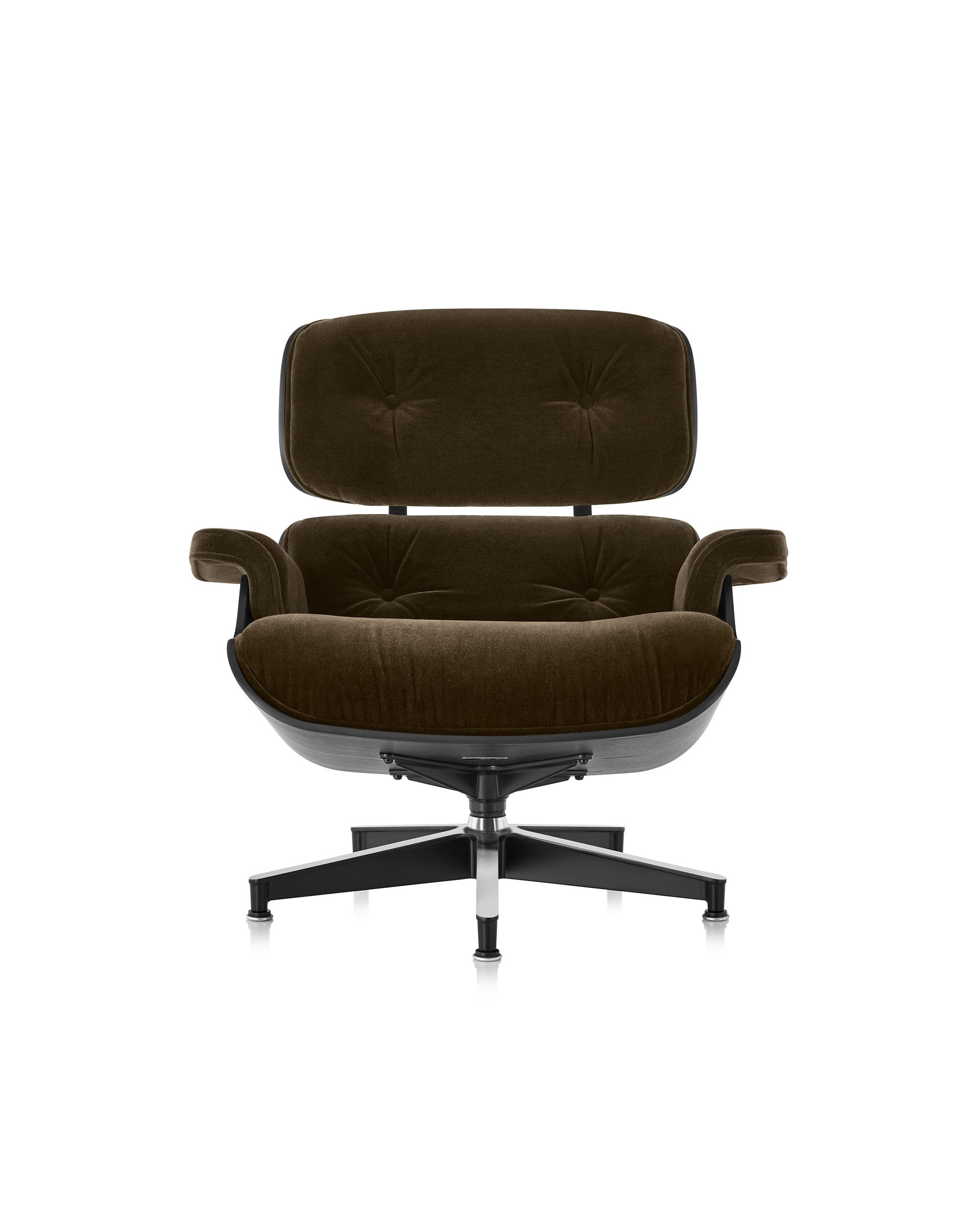Herman Miller Eames® Lounge Chair Ebony in Mohair Supreme