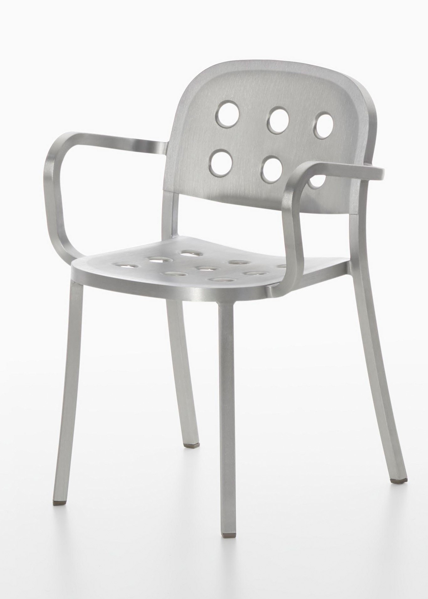 Emeco 1 INCH All Aluminum Armchair By Jasper Morrison