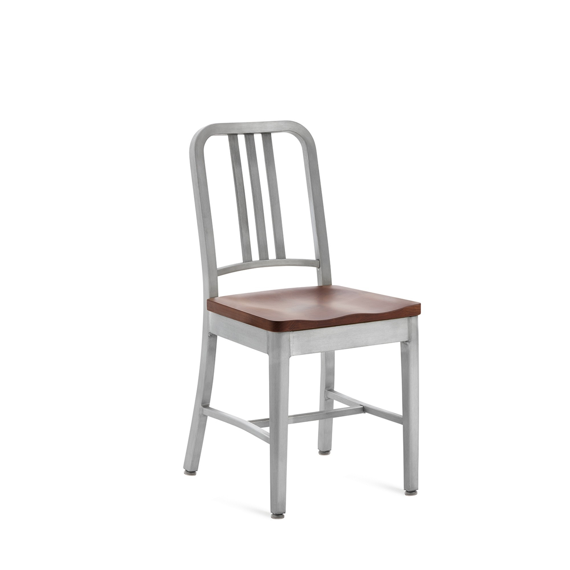 Emeco Navy™ Chair With Natural Wood Seat