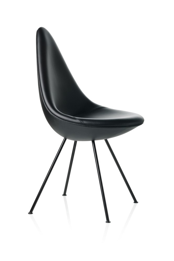 fritz hansen drop chair black edition gr shop canada. Black Bedroom Furniture Sets. Home Design Ideas