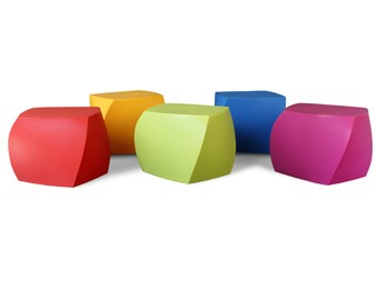 Heller Frank Gehry Furniture Collection Left Twist Cube