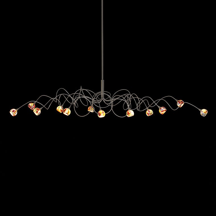 Harco Loor Murrini Oval Suspension Lamp