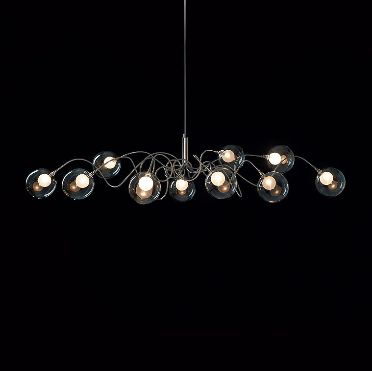 Harco Loor Riddle Six Oval Suspension Lamp
