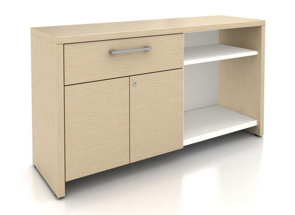 Haworth A Series Active Storage Credenza with Drawer and Doors