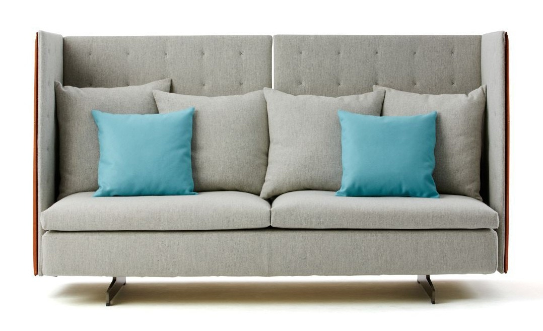Haworth Collection Poltrona Frau GranTorino HB Two Seat Sofa - GR ...