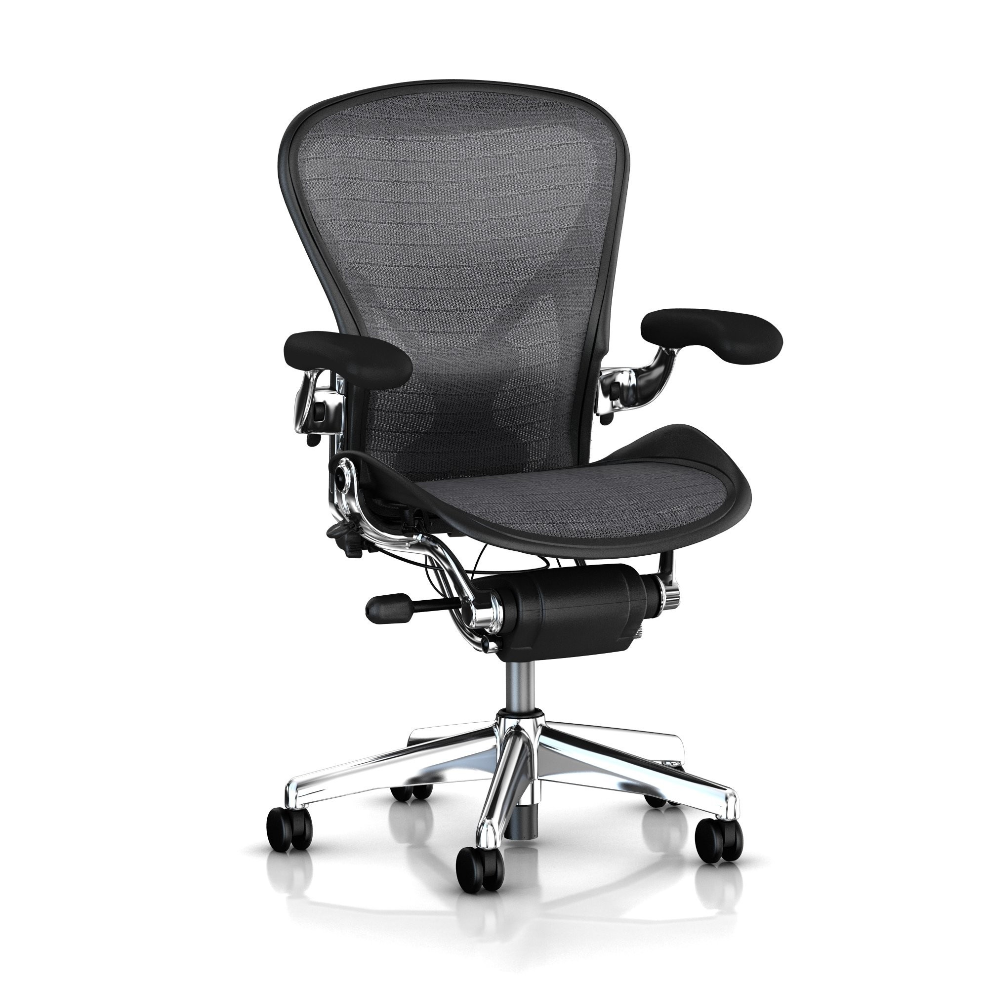 aeron tuxedo black grey miller image precision in stock chair classic herman