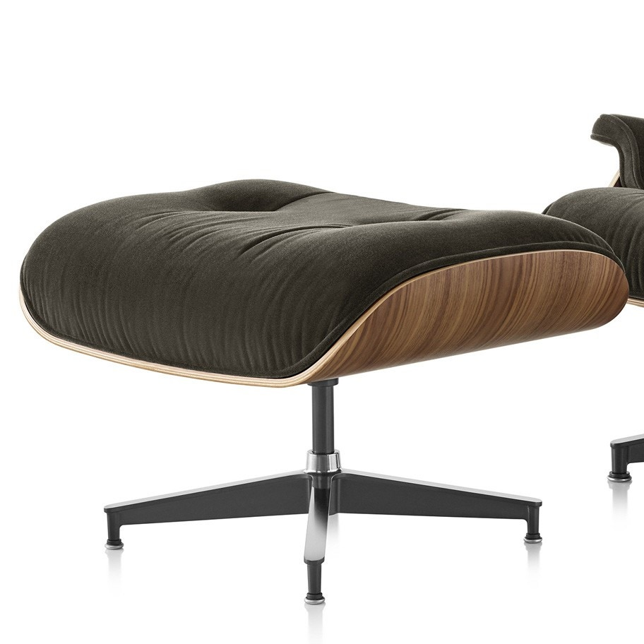 Herman Miller Eames® Lounge Ottoman in Mohair Supreme