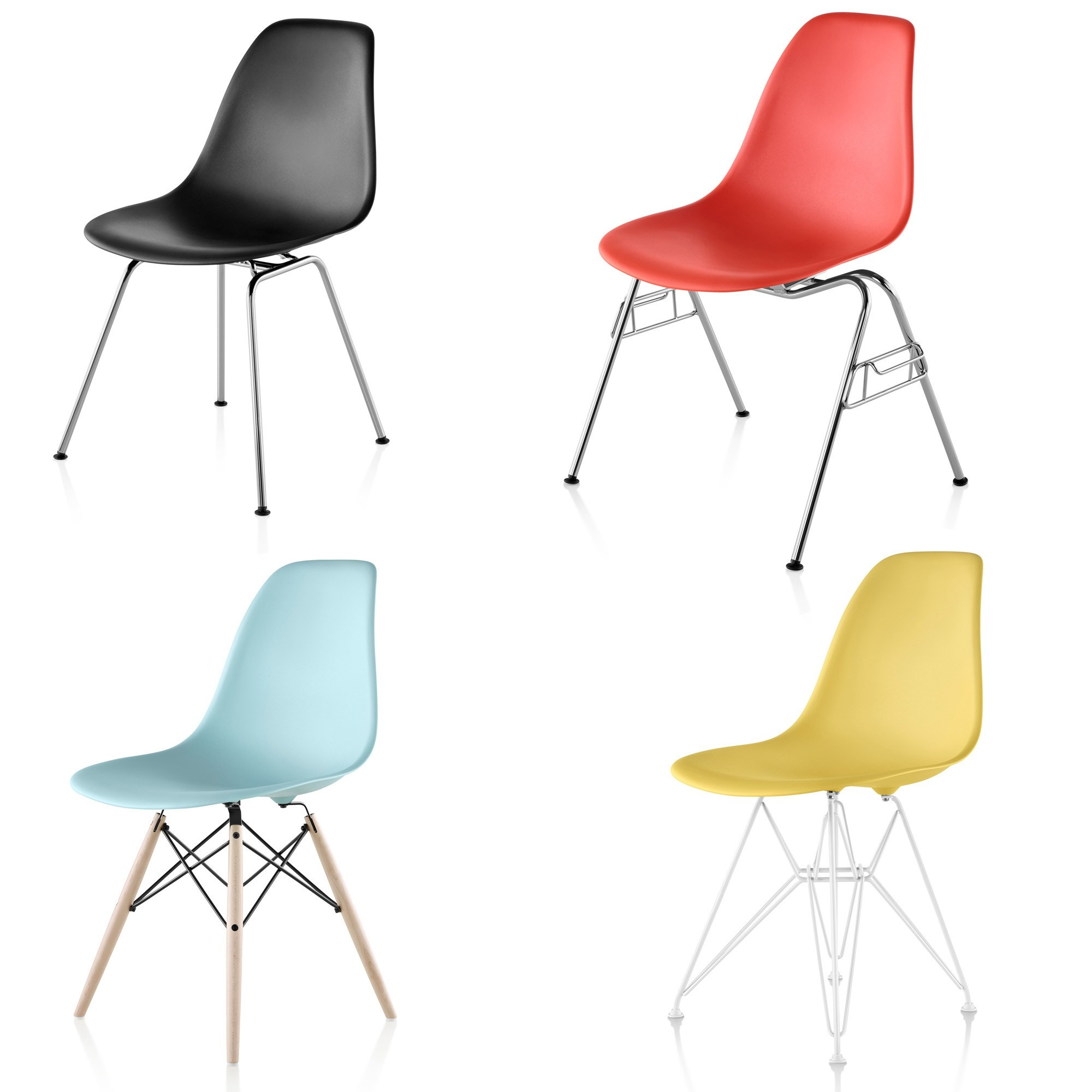 Herman Miller Eames Molded Plastic Chair herman miller eames® molded plastic side chair - gr shop canada