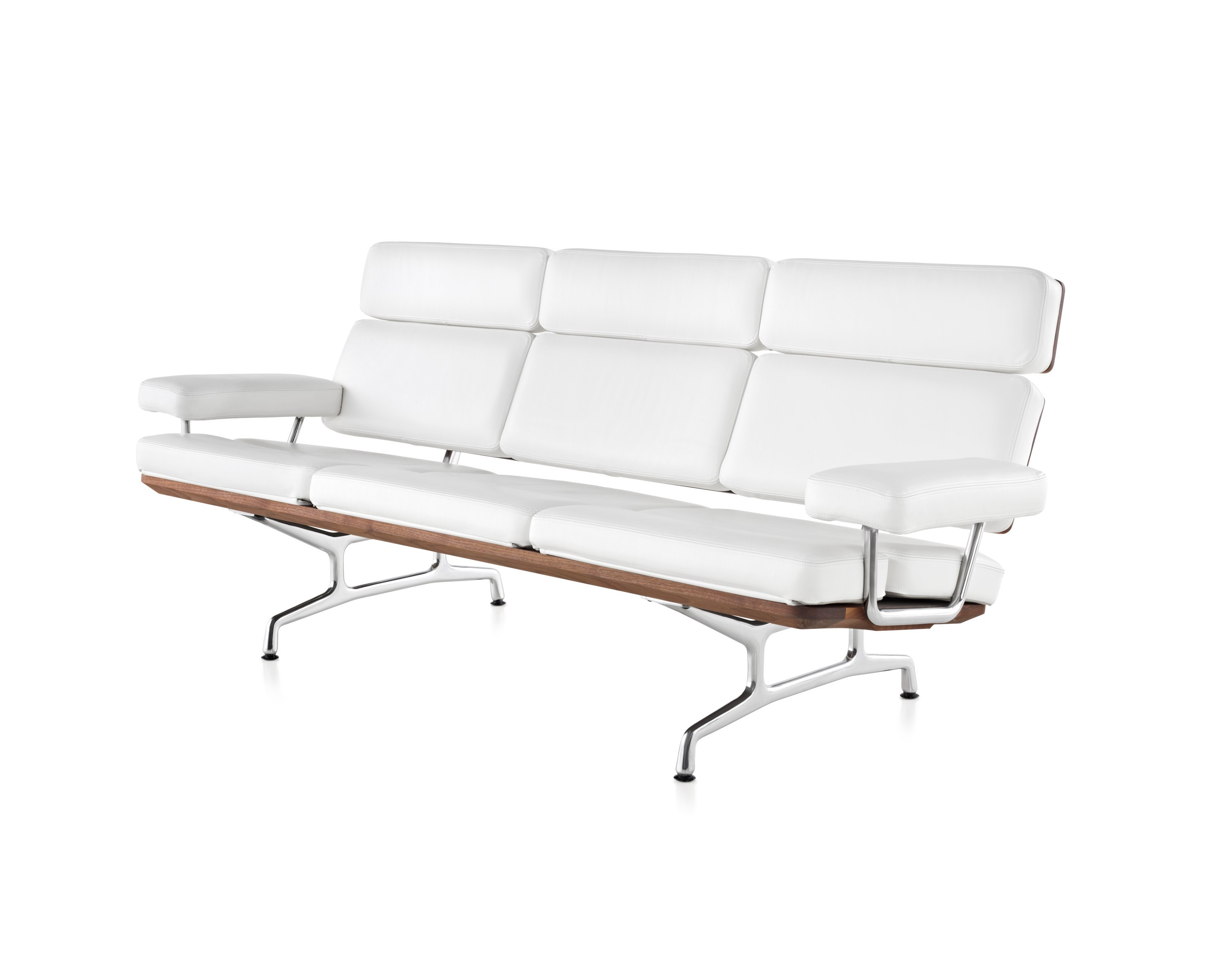 eames sofa eames teak and leather sofa by herman miller at