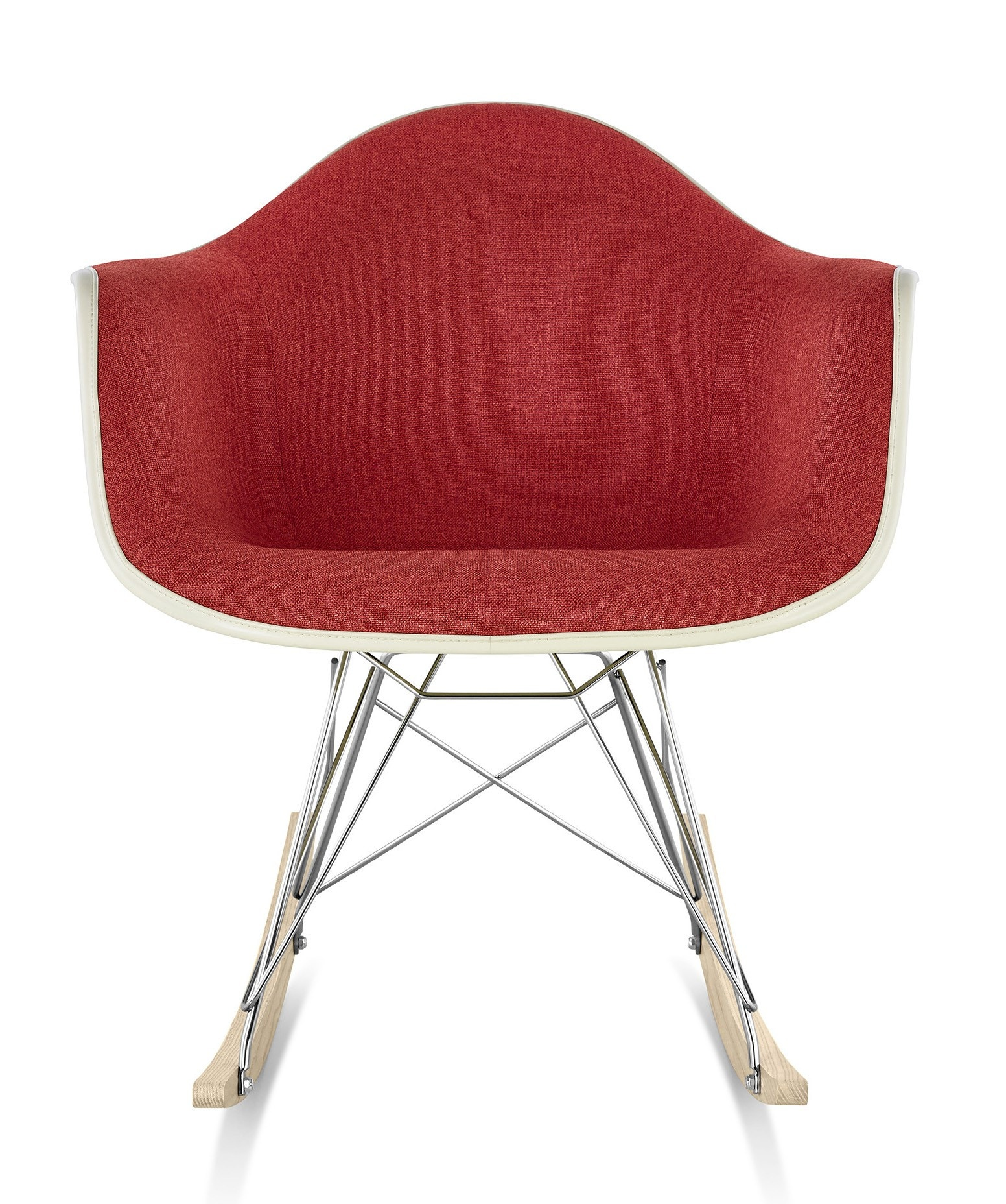 Herman Miller Eames® Molded Fiberglass Armchair Rocker Base Upholstered Shell