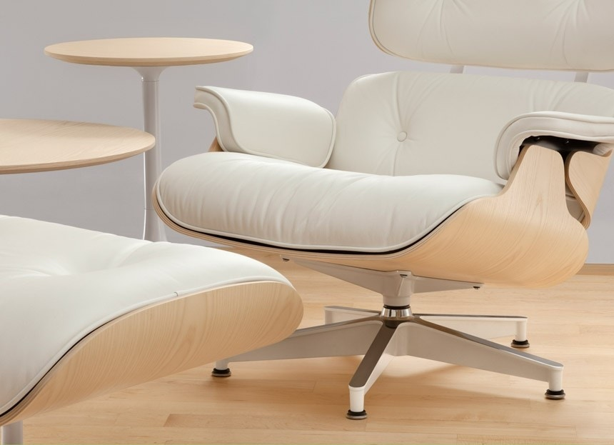 Herman Miller Eames Lounge Chair and Ottoman White Ash GR Shop Canada