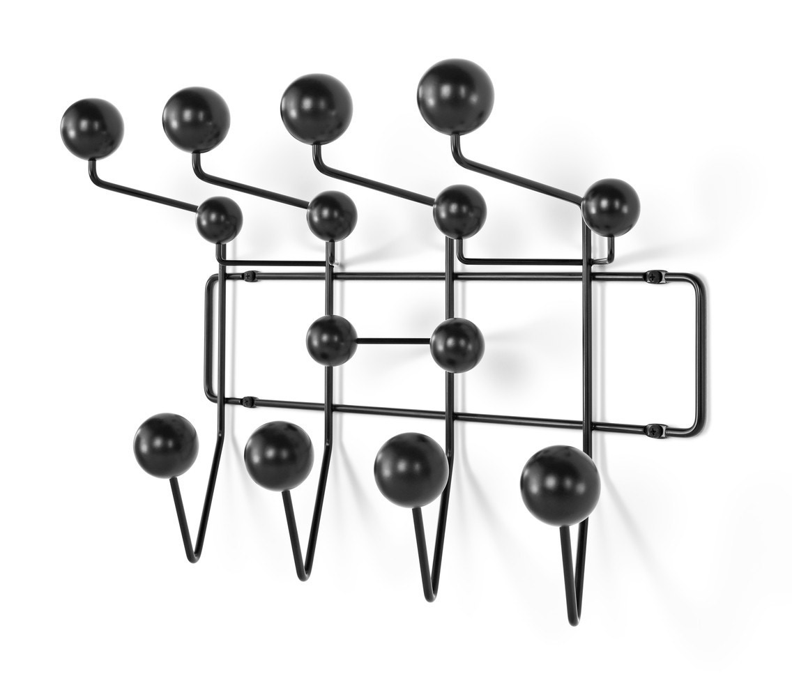 Herman Miller Eames® Hang-It-All - Black Spheres with Black Wire Frame (STK)