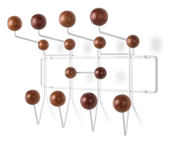Herman Miller Eames® Hang-It-All - Walnut Spheres with White Wire Frame (STK)