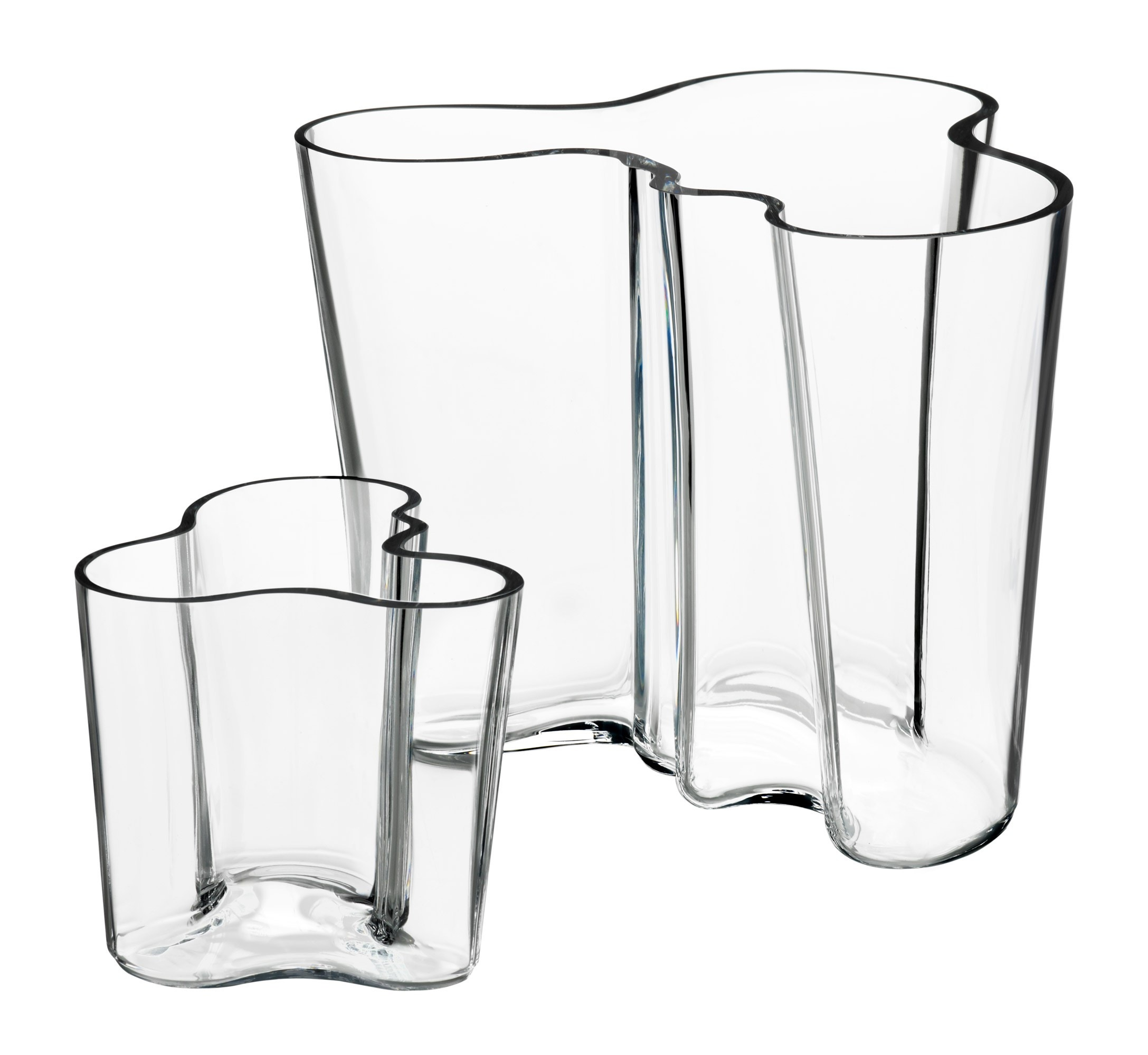 iittala alvar aalto vases clear set of 2 inch. Black Bedroom Furniture Sets. Home Design Ideas