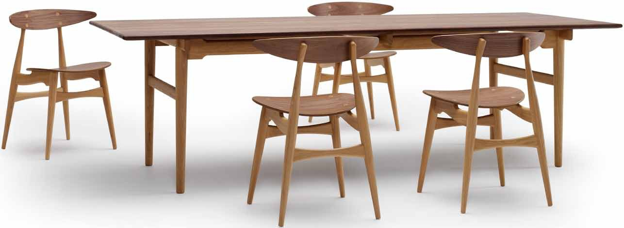 Carl Hansen & Son CH327 Wegner Dining Table, New Mix Wood Combination