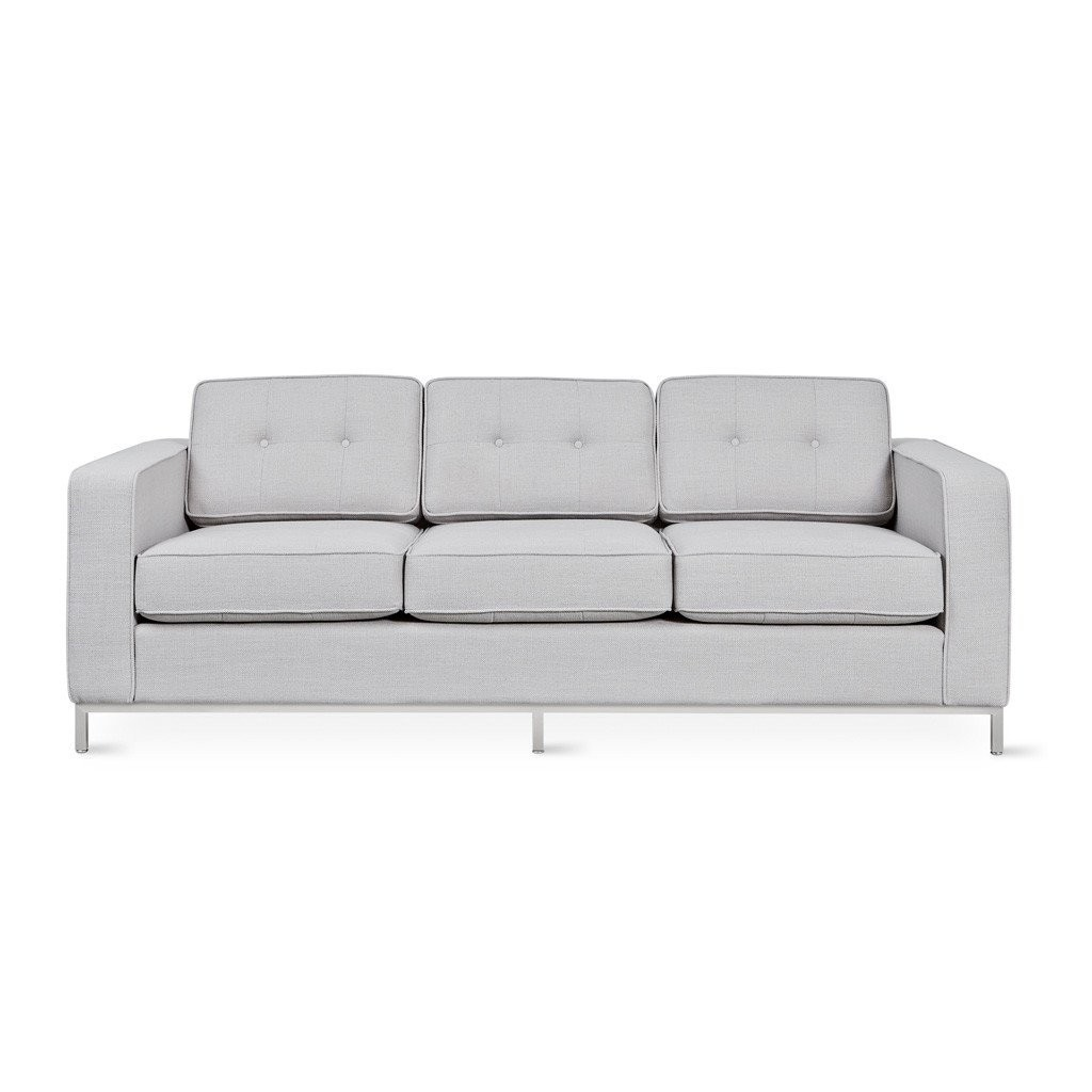CLEARANCE - Gus* Modern Jane Sofa Oxford Quartz Stainless
