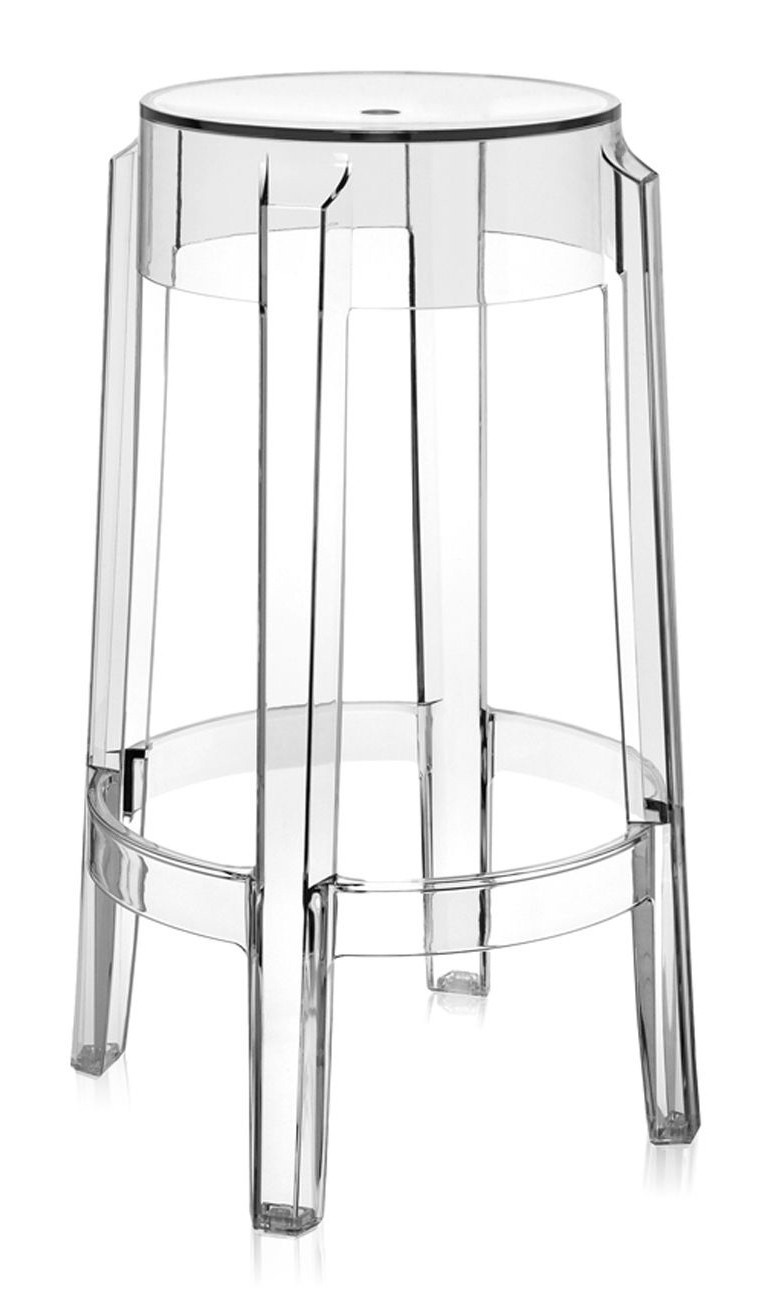 Kartell Charles Ghost Stool (Priced Each, Sold in Sets of 2)