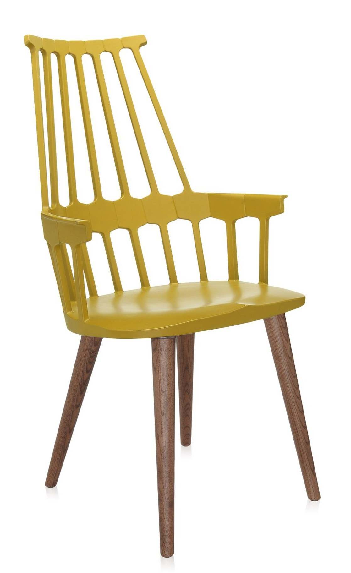 Kartell Comback Four Wooden Leg Chair (Priced Each, Sold in Sold in Sets of 2)