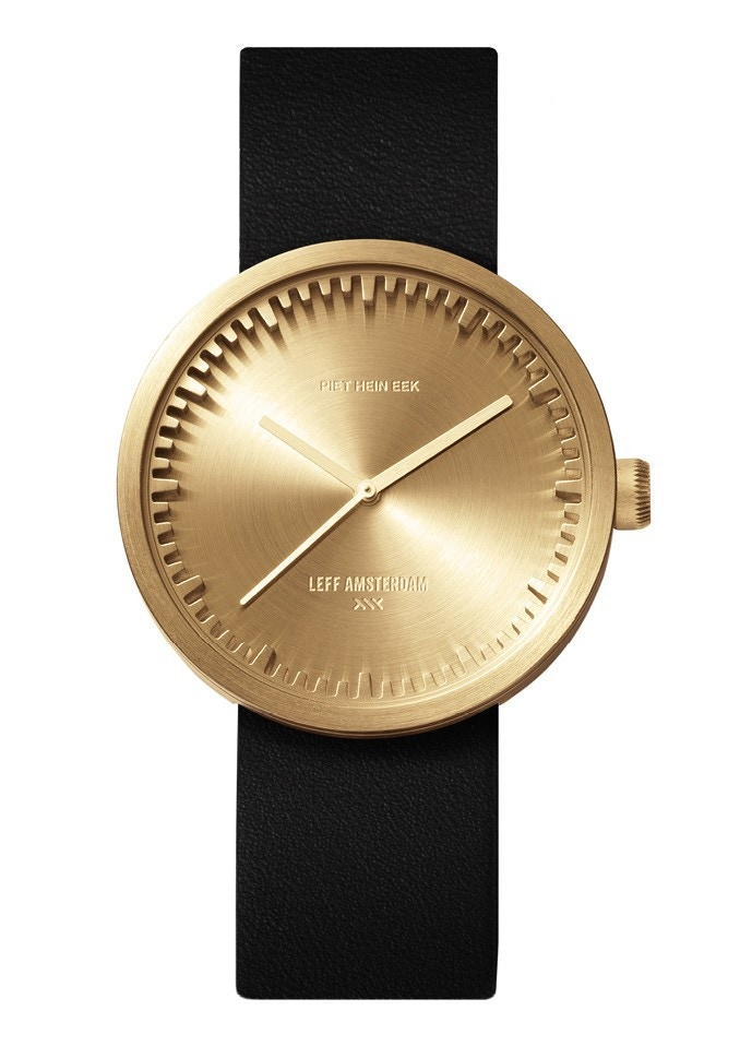 Leff Amsterdam Tube D38 Brass Watch
