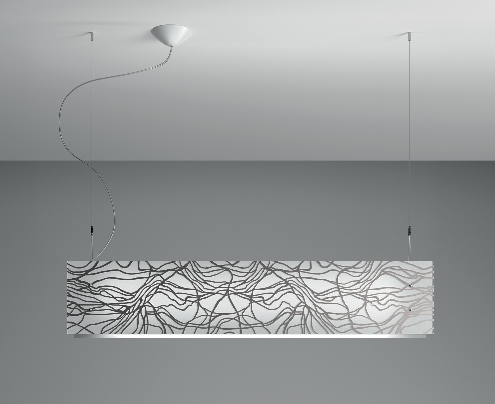 Leucos Laguna S105 Platino Suspension Lamp