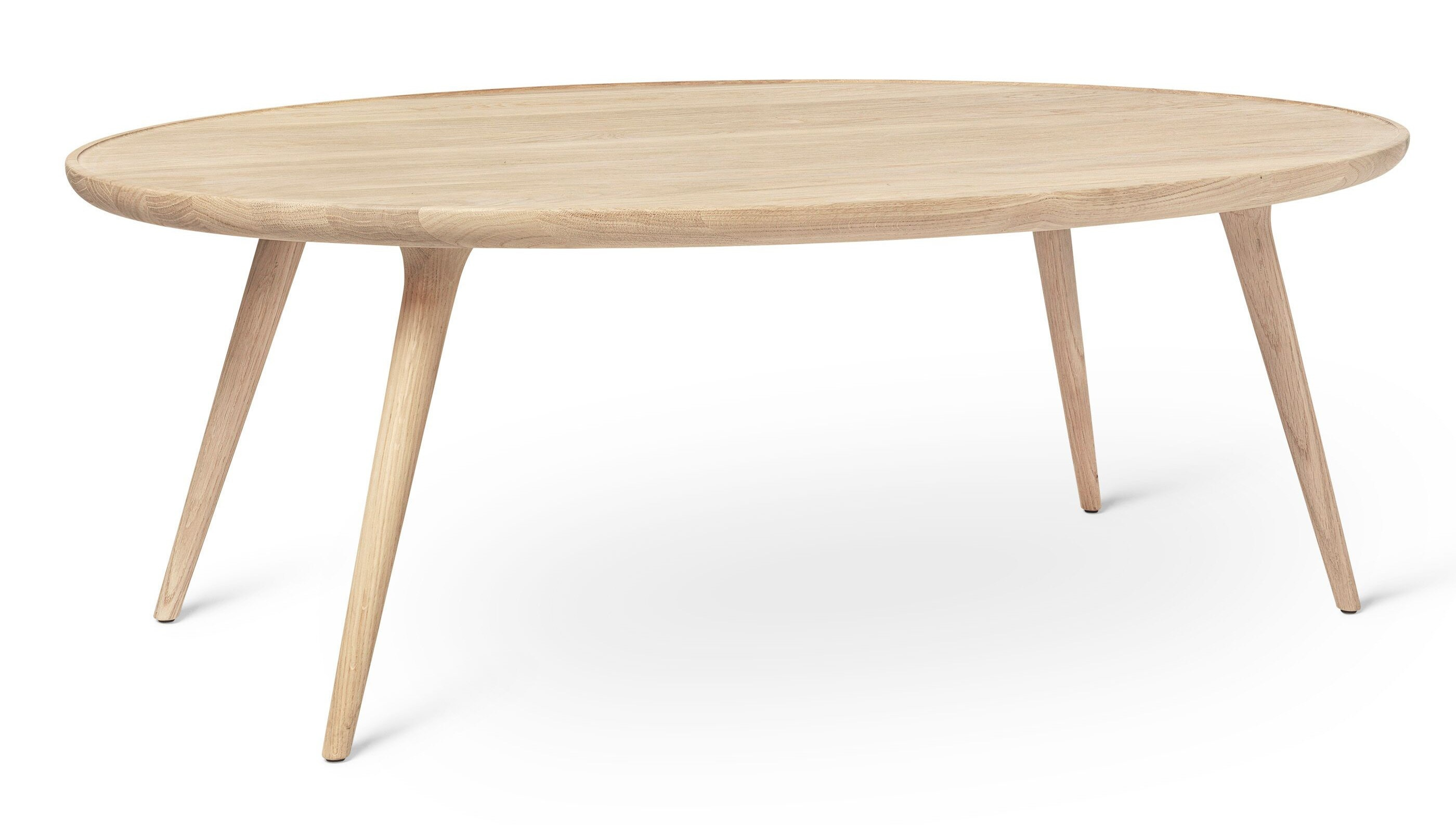 Mater Accent Oval Lounge Table - Mat Lacqured Oak