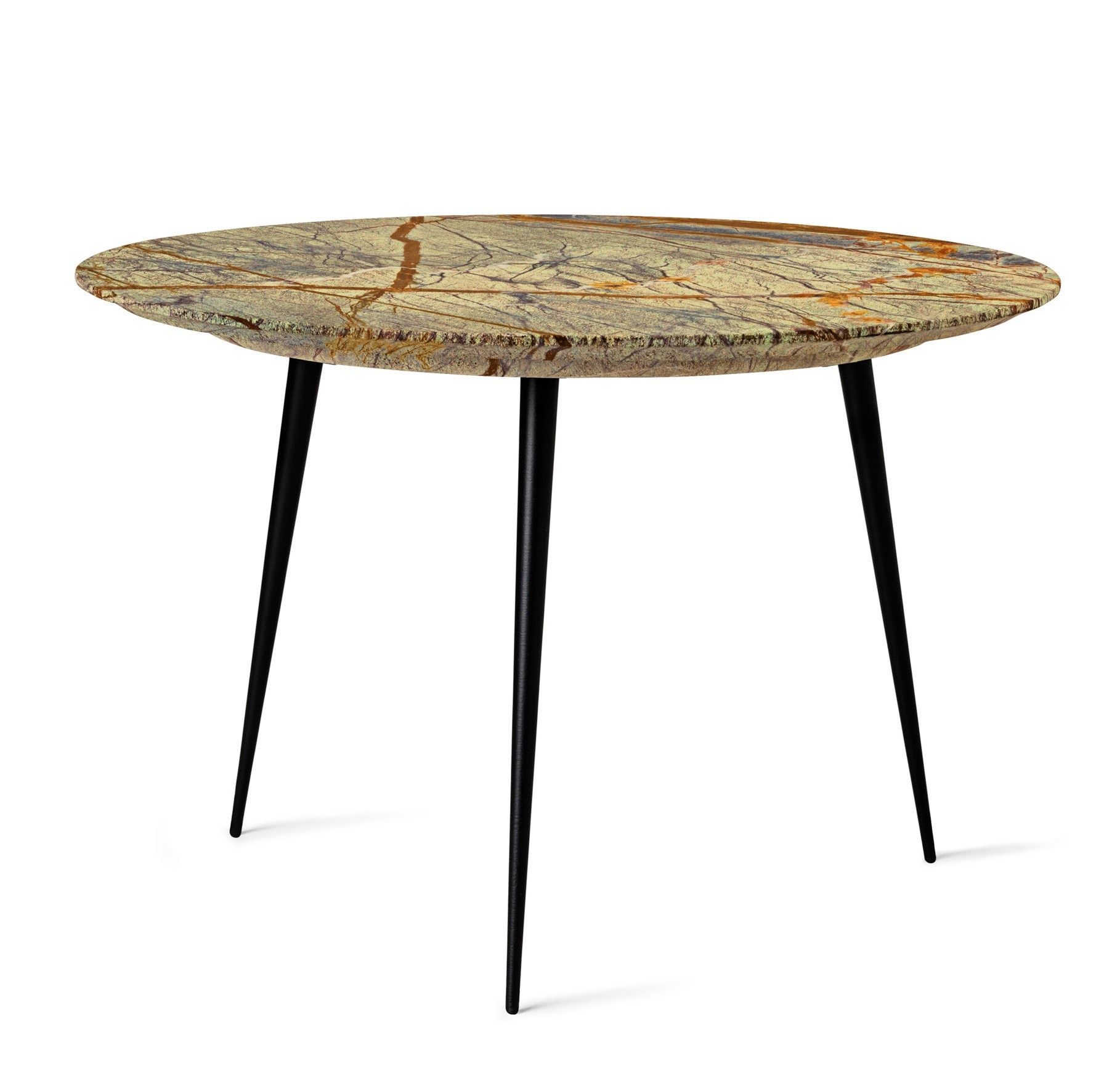 Mater Disc Side Table with Marble Top