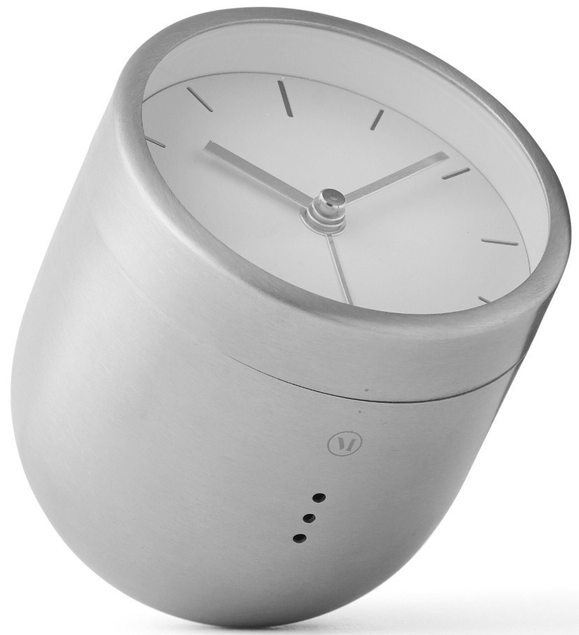 Menu Norm Tumbler Alarm Clock Metallic
