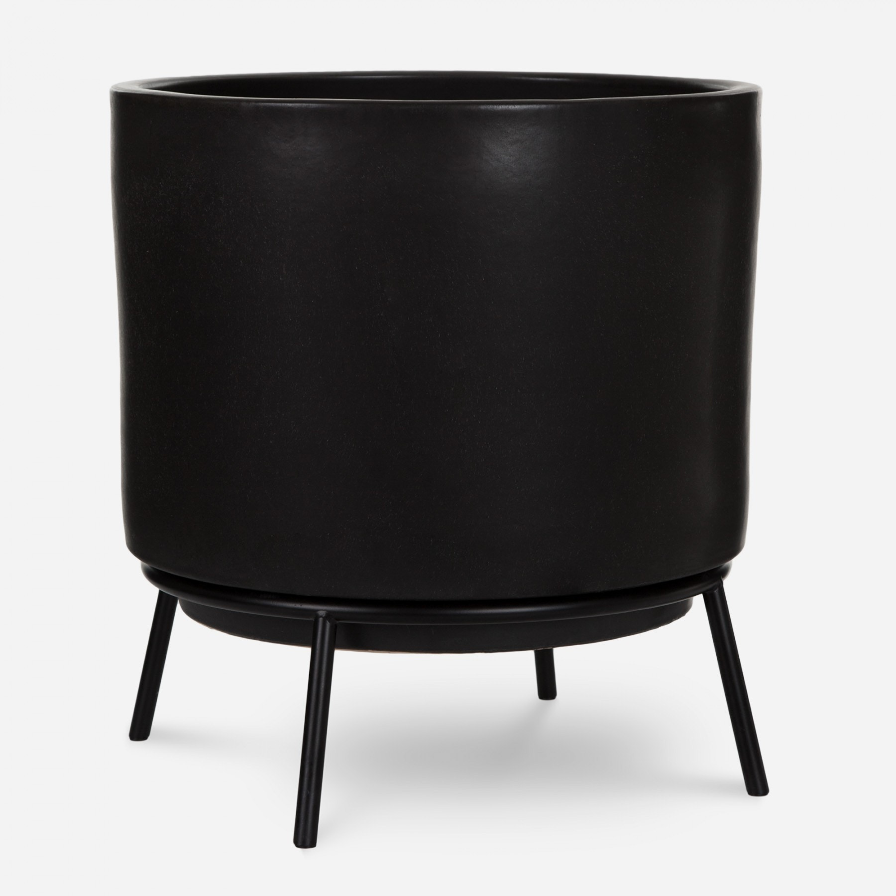 Modernica Case Study® Ceramics Raised Large High Pan with Cradle Stand (Planter)