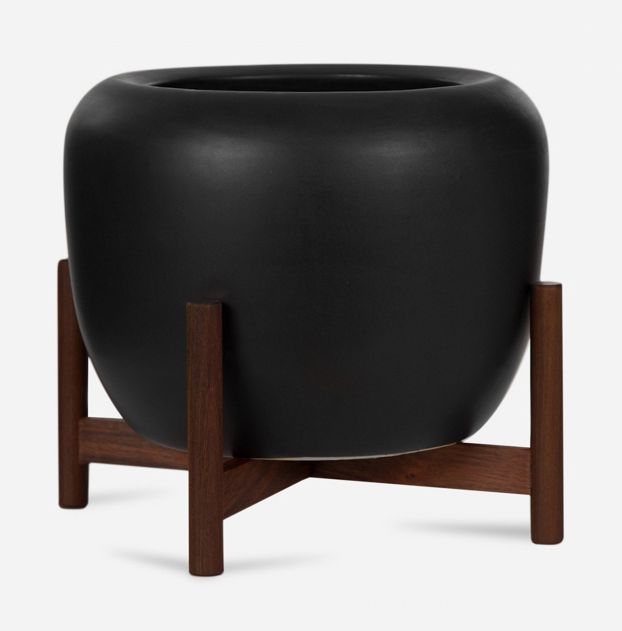 (Planter)Modernica Case Study® Ceramics Table Top Drum With Stand (Planter)