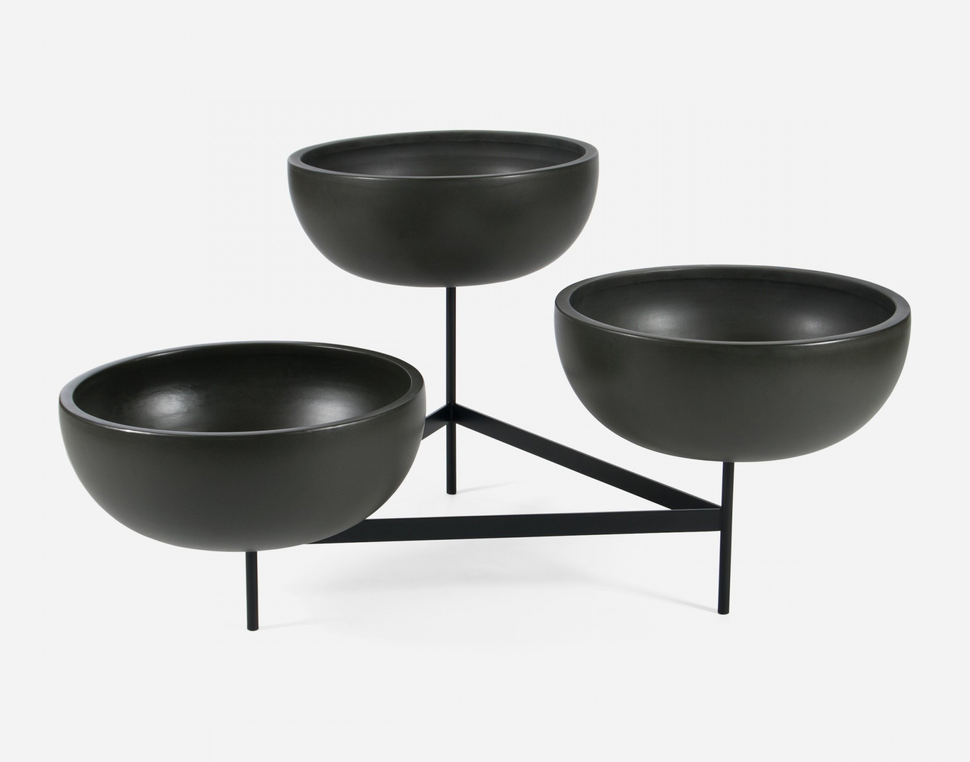 Modernica Case Study® Ceramics Large Bowls With Tri Stand (Planter)