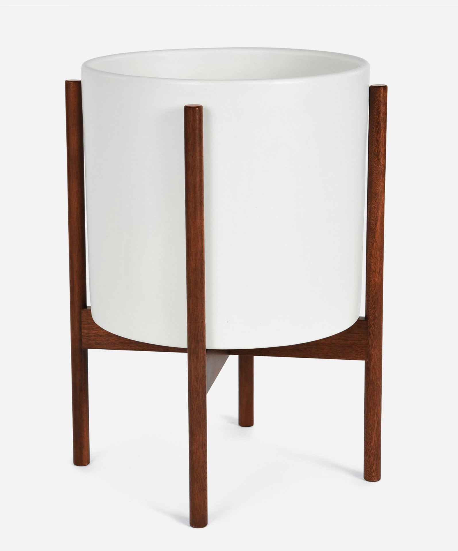 Modernica Case Study® Ceramics Large Cylinder With Stand (Planter)