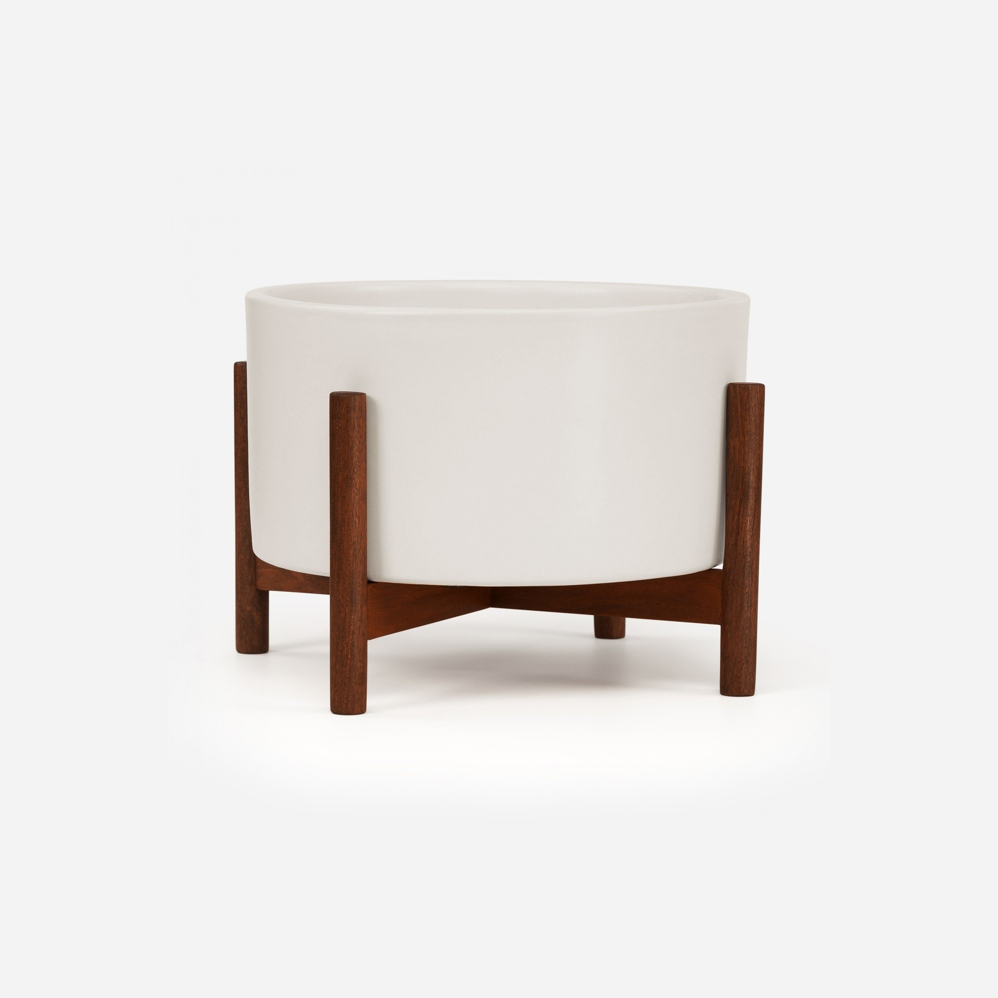 Modernica Case Study® Ceramics Table Top Cylinder With Stand (Planter)