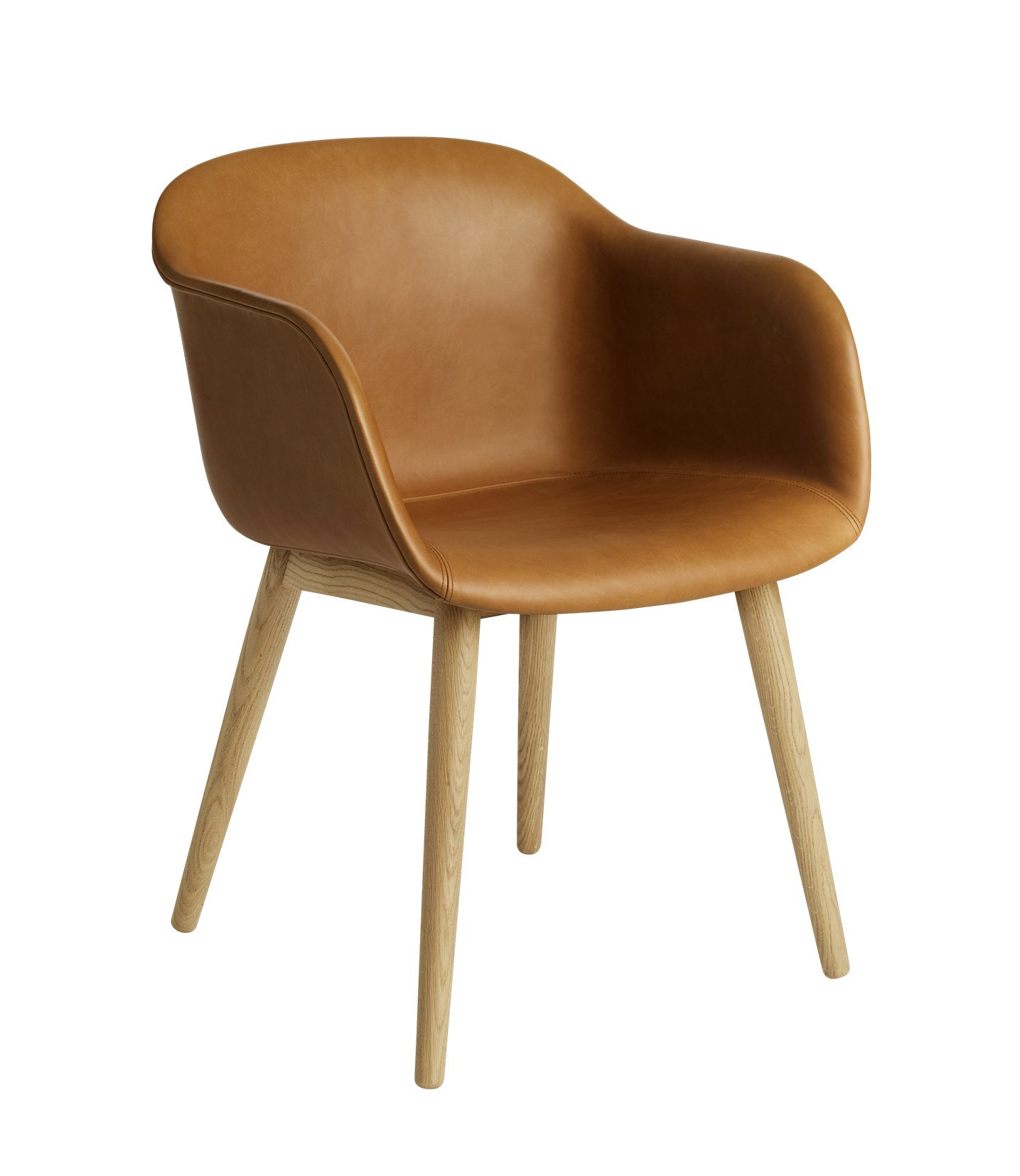 Muuto Wood Base Upholstered Fiber Armchair Gr Shop Canada