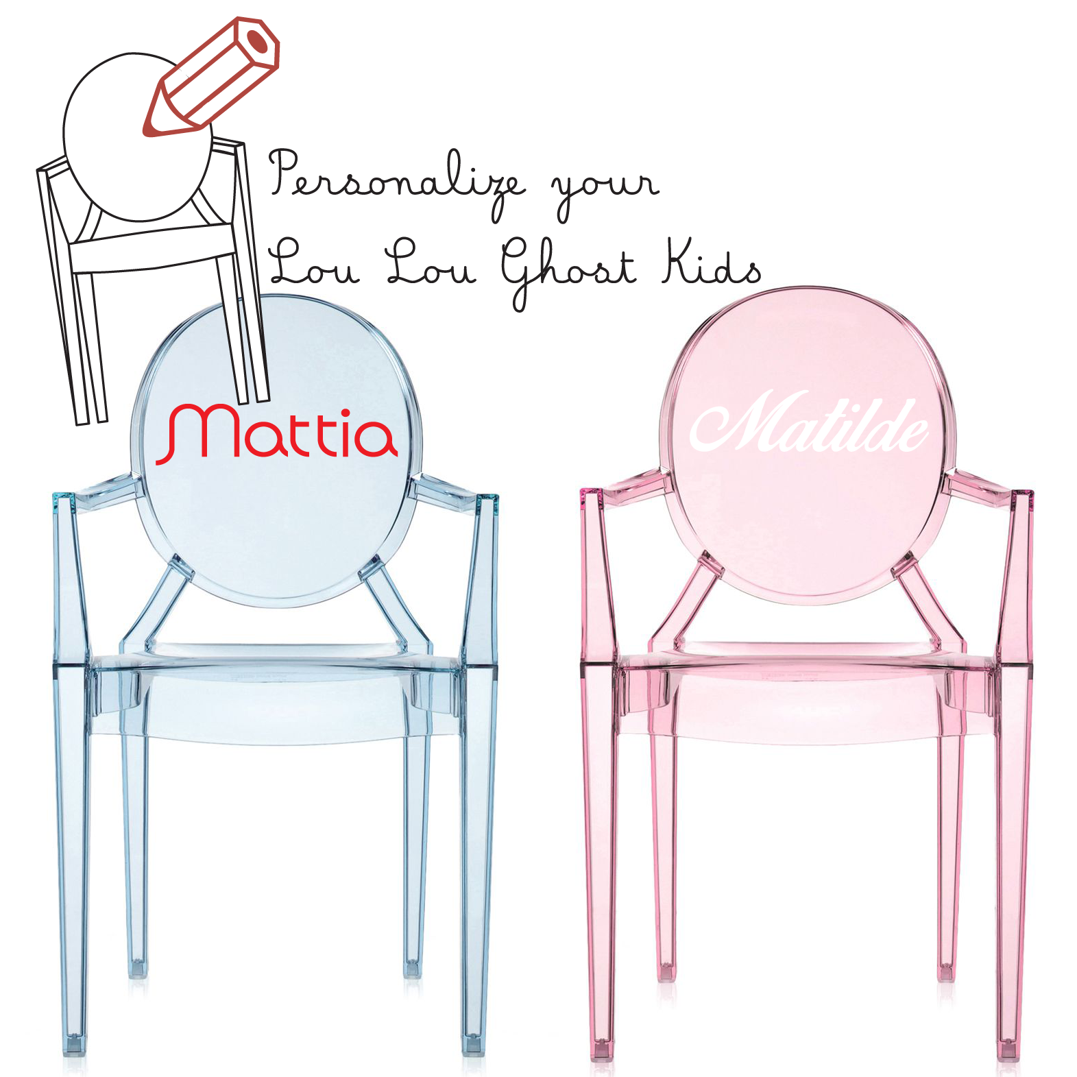 Kartell Lou Lou Ghost Custom Chair
