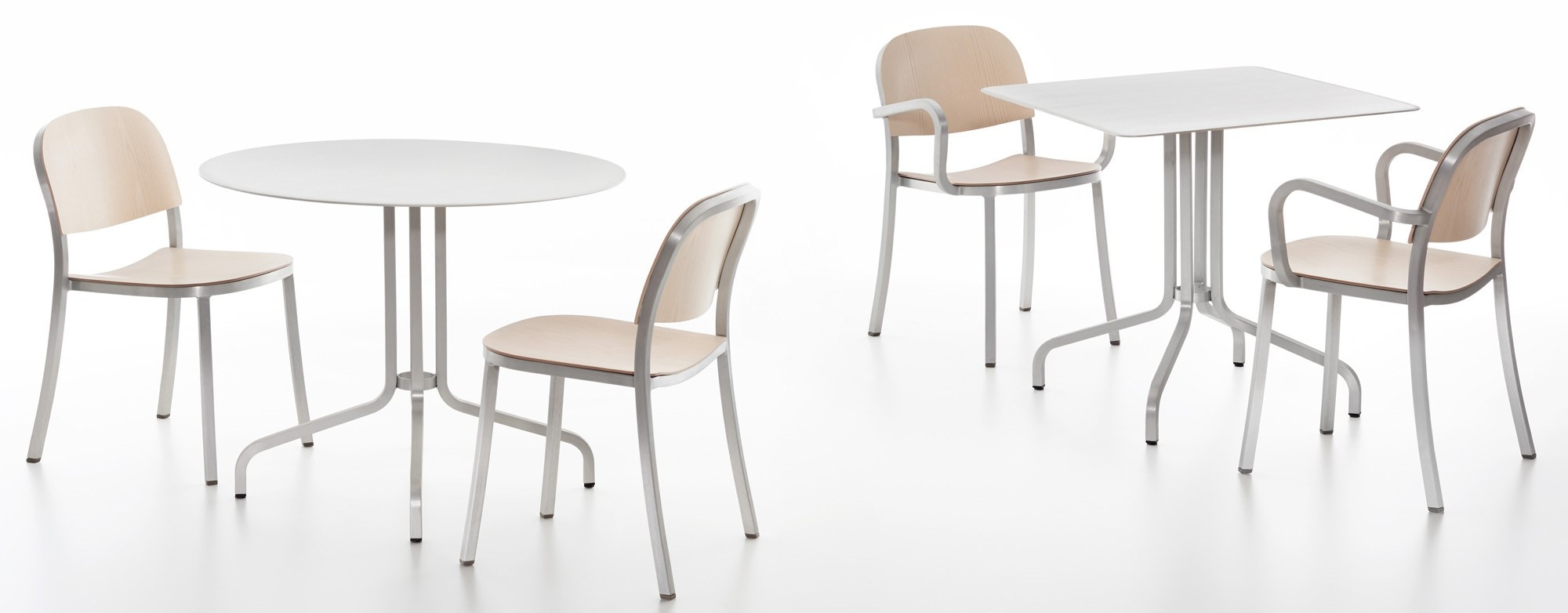 Emeco 1 INCH Cafe Table By Jasper Morrison, Round or Square