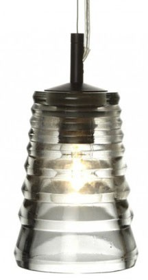 CLEARANCE - Tom Dixon Pressed Glass Tube Pendant Light