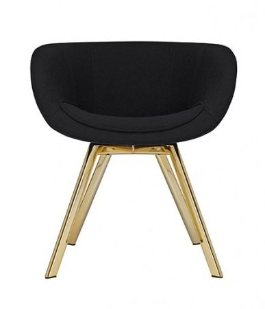 Tom Dixon Scoop Low Chair Brass Legs