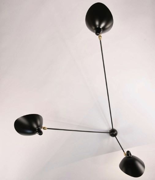 Serge Mouille Spider Ceiling Lamp - 3 Still Arms