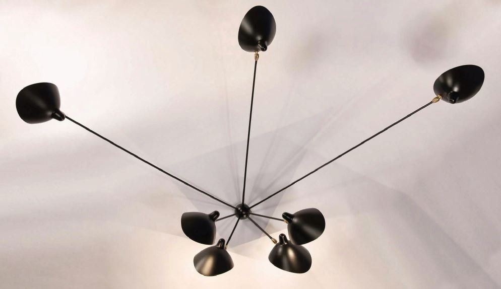 Serge Mouille Spider Ceiling Lamp - 7 Still Arms
