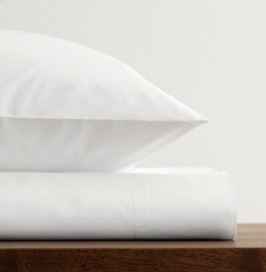 Area Bedding Stella White Fitted Sheet