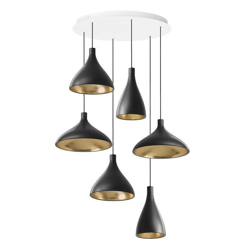 Pablo Swell 2 Chandelier Mix Pendant Lamp