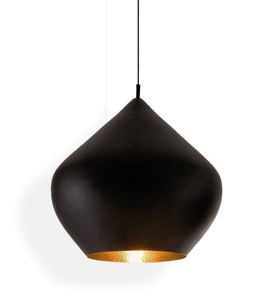 Tom Dixon Beat Pendant Light Stout, Black