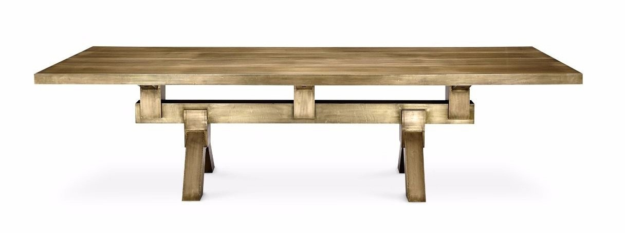 Tom Dixon Mass Dining Table Brass